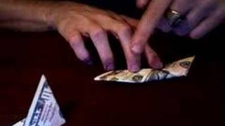 How To Fold 2 Bills Into A 4 Pointed Star