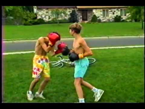 backyard boxing sparring match youtube