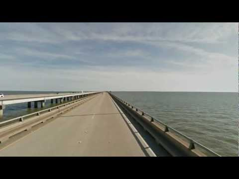 Google street view timelapse.  Lake Pontchartrain Causeway (Louisiana, USA)