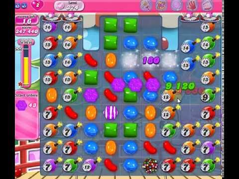 How to beat Candy Crush Saga Level 374 - 3 Stars - No Boosters - 706