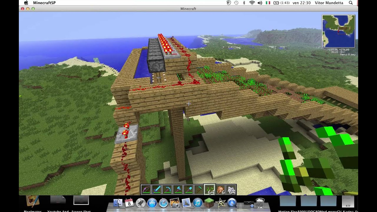 how to build a wheat farm in minecraft
