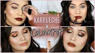 Karrueche x ColourPop LIVE SWATCHES + Two Looks One Palette!
