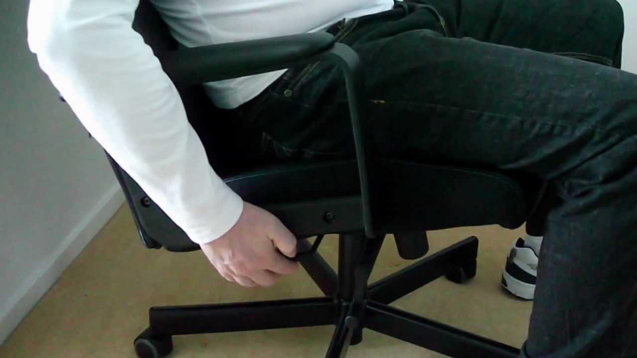 Ikea malkolm swivel desk office chair demo youtube - Ikea silla markus ...