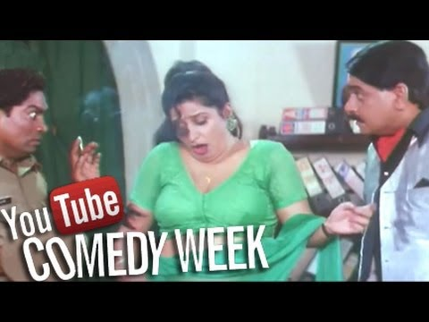 Laxmikant Berde lands in Police Station - Comedy Scene