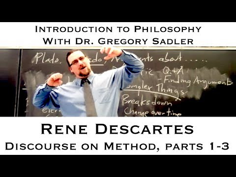 a discussion on descartes argument from meditation three Descartes' first meditation: mathematics and the laws of logic mark a olson 1 introduction descartes' deceiving god argument has.