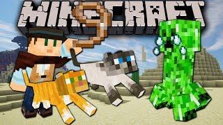 Minecraft: Zoo Keeper Cats Herding Creeper! Ep. 15