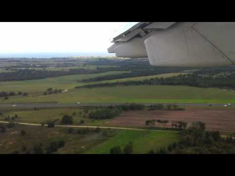 South African Airlink BAe 146-200 Landing in George 23.12.2010