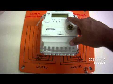 Medidor de energia trifásico