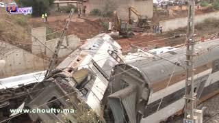 فاجعة قطار بوقنادل ..بعد الأوامر الملكية..وزير الداخلية ووزير النقل ينتقلان على وجه السرعة إلى مكان الحادث | بــووز