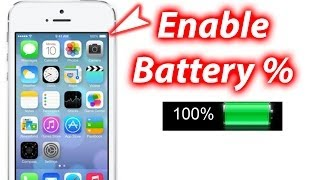 How To Show Battery Percentage IOS 7 IPhone 5s/5c