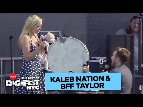 Kaleb Nation Proposes to BFF Taylor   DigiFest NYC Presented by Coca-Cola