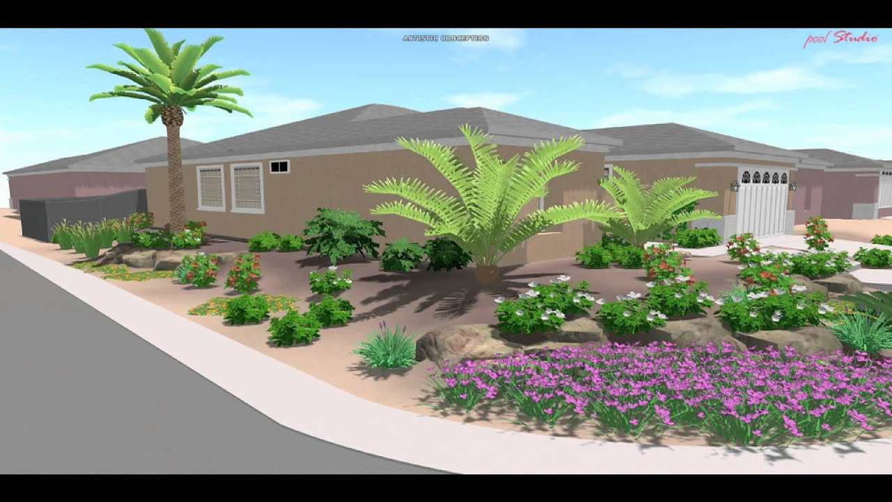 3d landscape design las vegas youtube for 3d garden designs