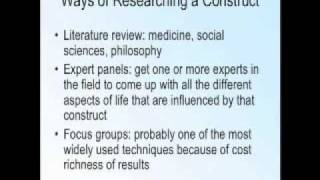 Research:  Basic Principles of Testing and Measurement