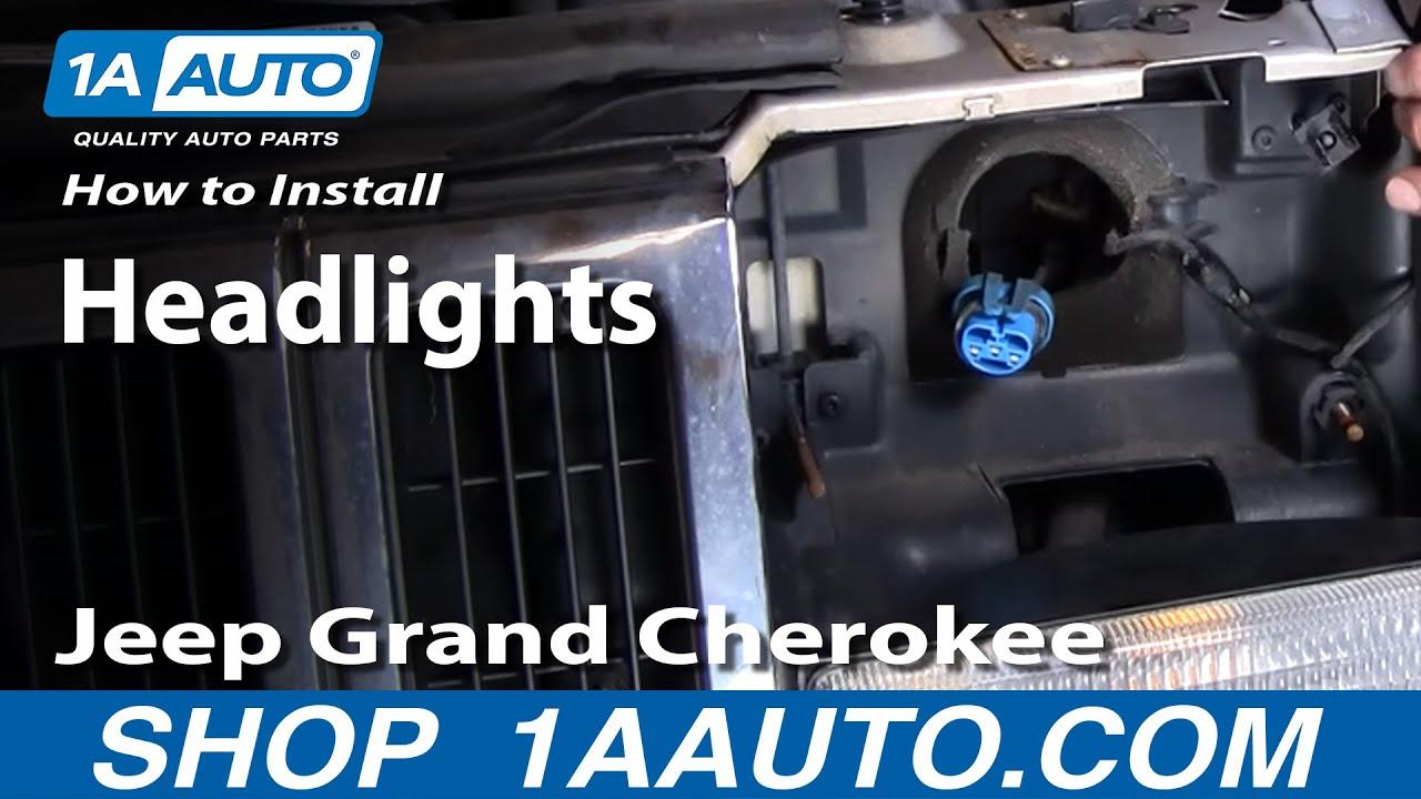 How To Install Replace Grand Cherokee Headlight 93 98