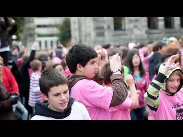 Stop Action Video: Anti-bullying flash mob at BC Legislature