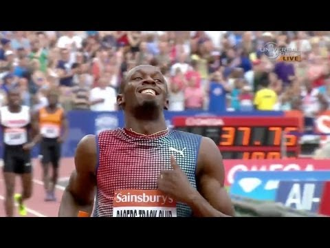 Bolt leads JAM to victory in 4x100 at London Diamond League 2013