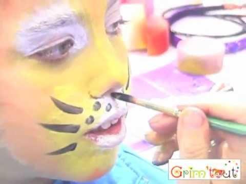 Malowanie twarzy: wzór Tygrys GRIM'TOUT