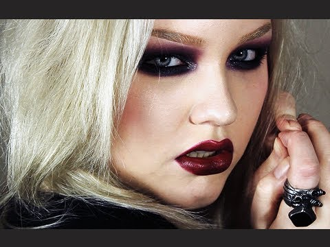 Colored Goth Makeup Look