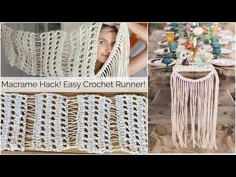 Macrame Inspired Crochet Table Runner Tutorial