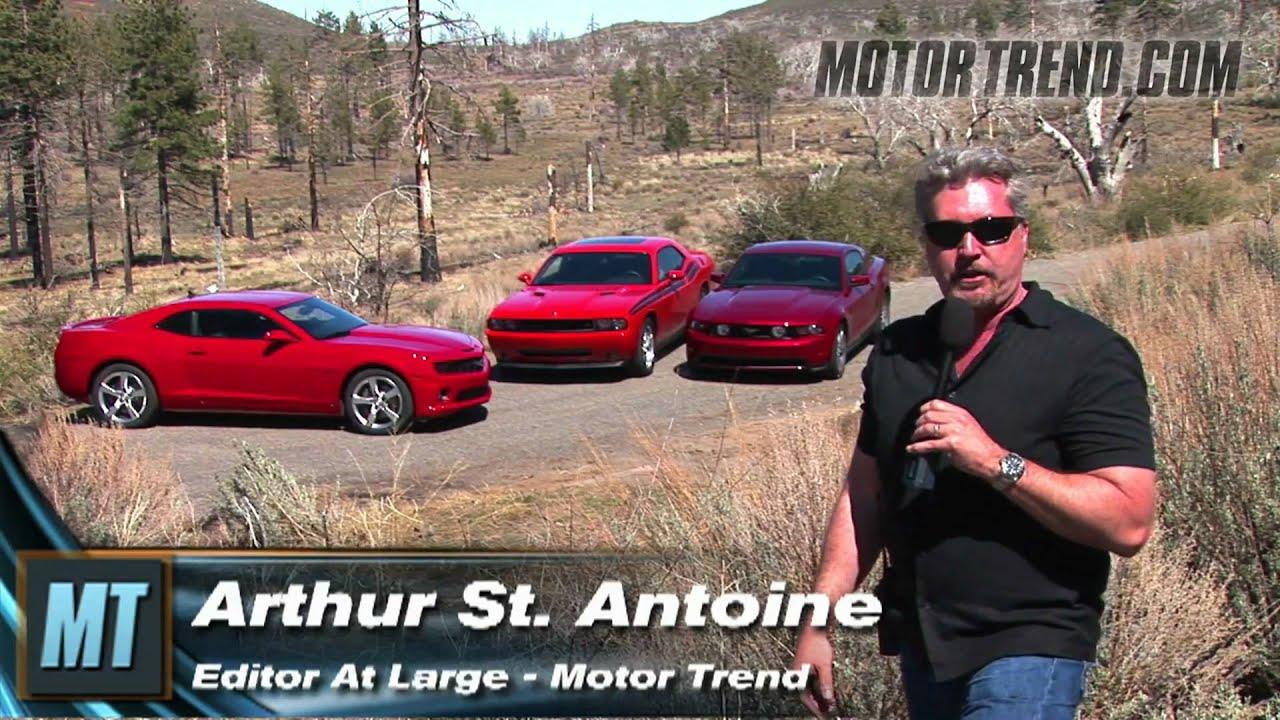 Camaro is king mustang vs challenger vs camaro youtube for Motor trend channel youtube