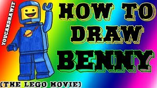 How To Draw Benny From The LEGO Movie YouCanDrawIt ツ