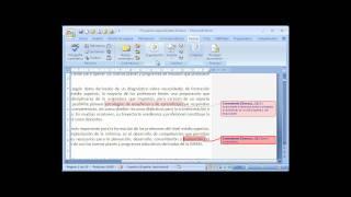 Agregar Comentarios En Word 2007