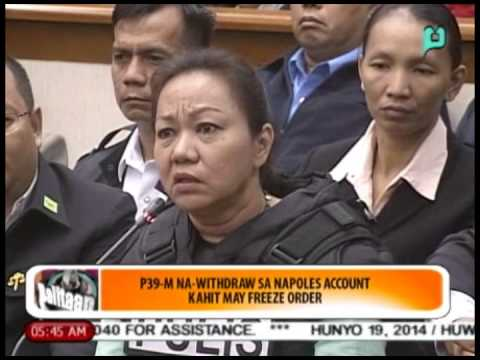 Balitaan: P39-M na-withdraw sa Napoles 'account' kahit may 'freeze order' [06/19/14]