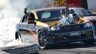 Blown V8 Holden Commodore burnout - ROGUE