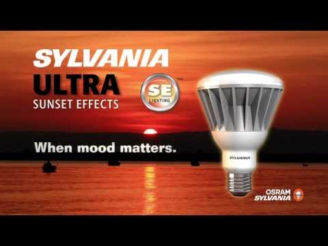 SYLVANIA ULTRA SE™ LED Light Bulbs with Color Dimming Sunset Effects
