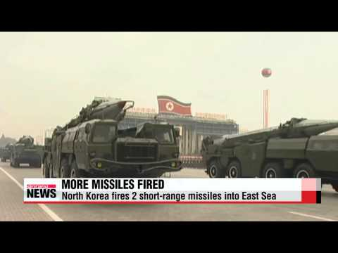 North Korea fires more missiles into East Sea