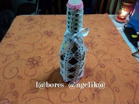 Como decorar botellas de vino para xv años
