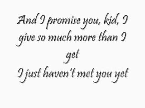 Haven't Met You Yet Michael Buble Lyrics