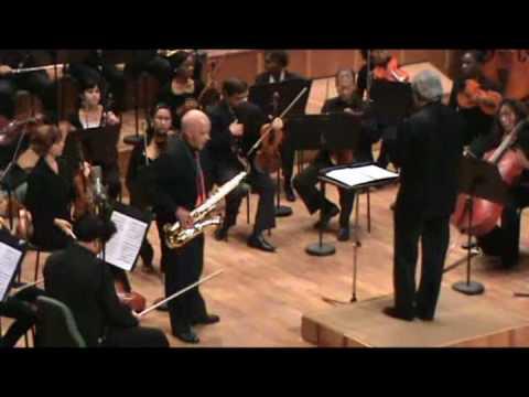 Concierto para saxofón tenor y Orquesta Sinfónica de Hans Helfritz. Primer movimiento.