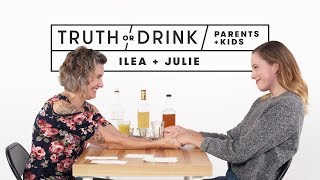 Parents and Kids Play Truth or Drink (Ilea & Julie) | Truth or Drink | Cut