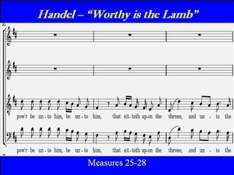 Handel-Worthy Lamb-Alto-Score.wmv