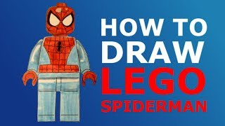 How To Draw Lego Spider-Man