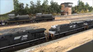 Norfolk Southern EMD SD70M-2 GE ES40DC Tank Train In HD