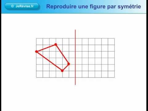 Reproduire une figure par symétrie. Leçon de géométrie pour le CE1 CE2 CM1 CM2 - YouTube