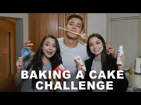 BAKING A CAKE CHALLENGE - Merrell Twins (feat. Gabriel Conte)