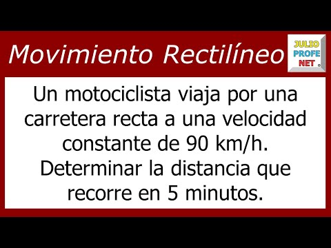 Problema sobre Movimiento Rectilíneo Uniforme-Uniform Linear motion problem
