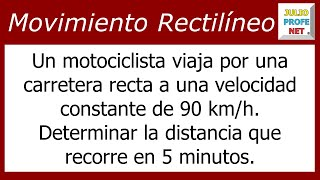Problema Sobre Movimiento Rectilíneo Uniforme-Uniform