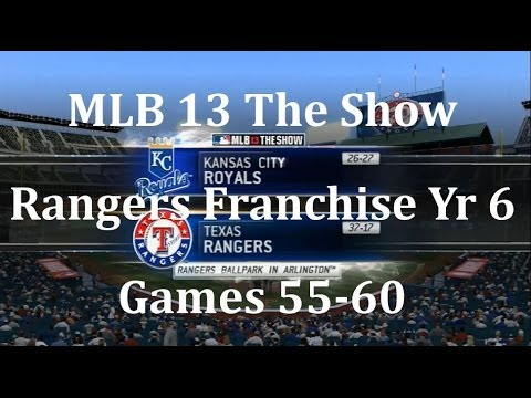 MLB 13 The Show Texas Rangers Franchise Yr 6 - gms 55-60