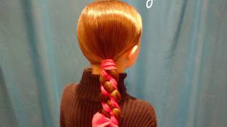 Candy Cane Braid, Ribbon Hairstyles