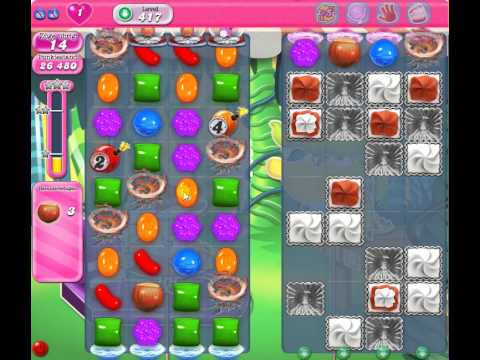 Candy Crush Level 417 - 1 Star 91k score - YouTube