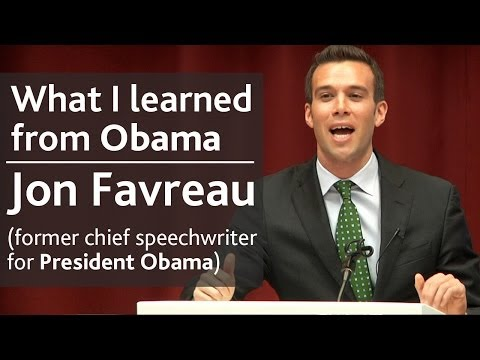 What I learned from President Obama | Jon Favreau (speechwriter) | UCD Literay & Historical Society
