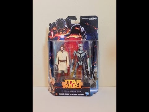 Hasbro Star Wars Mission Series Utapau Obi-Wan and General Grievous Review