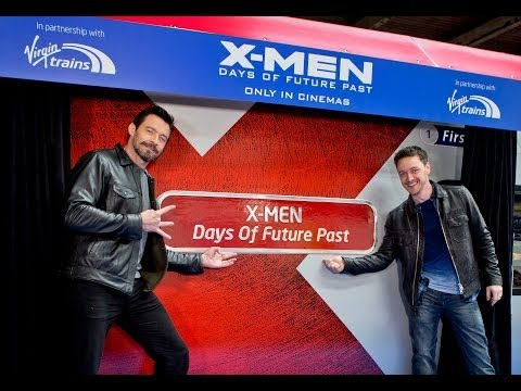 X-Men and Virgin Trains | Hugh Jackman and James McAvoy | Interview