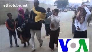 VOA Report   Federal Police crackdown on Ethiopian Muslims at Anwar Mosque   July 18, 2014
