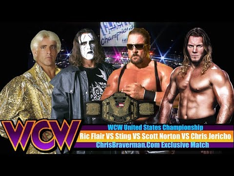 WCW U.S Title Match - Jericho vs Flair vs Sting Vs Norton - WWE 2K17