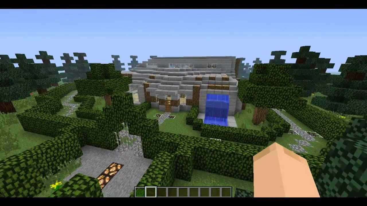 minecraft modern house design by gioizhere youtube